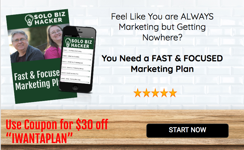 Fast & Focused Marketing Plan - Course Offer